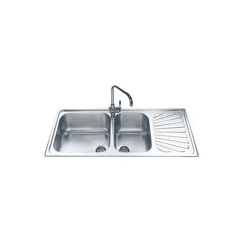 SMEG Lavello SG116D 2 Vasche Dimensioni 45 x 40 cm Inox Serie Alba