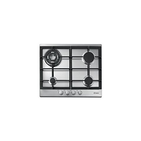 CANDY - Piano Cottura a Gas CPG64SWGX da 60 cm 4 Fuochi Gas Colore ...