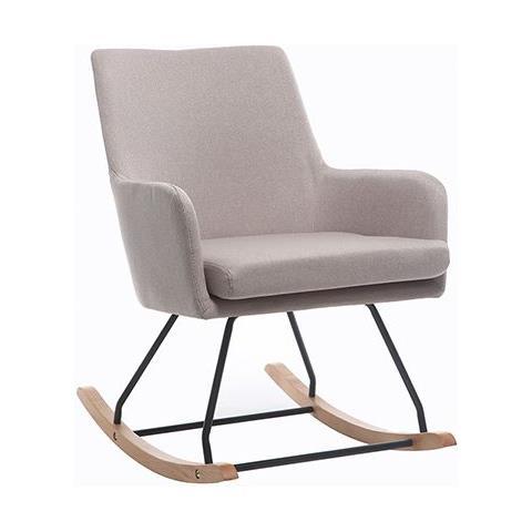 Sedie A Dondolo Design.Miliboo Poltrona Sedia A Dondolo Design In Tessuto Naturale Shana