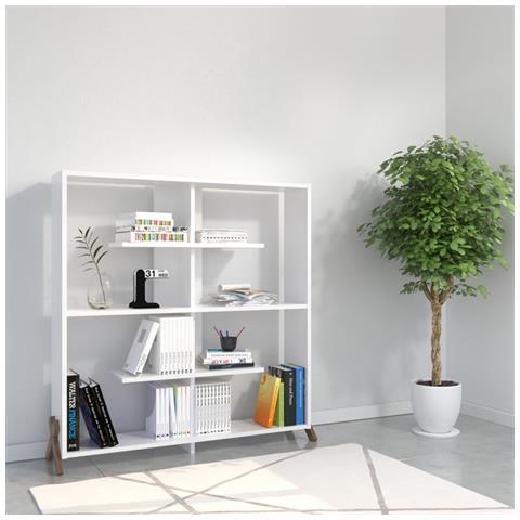 Homemania - Libreria Scaffale Con Ripiani Mensole Libri Kipp Bianco ...