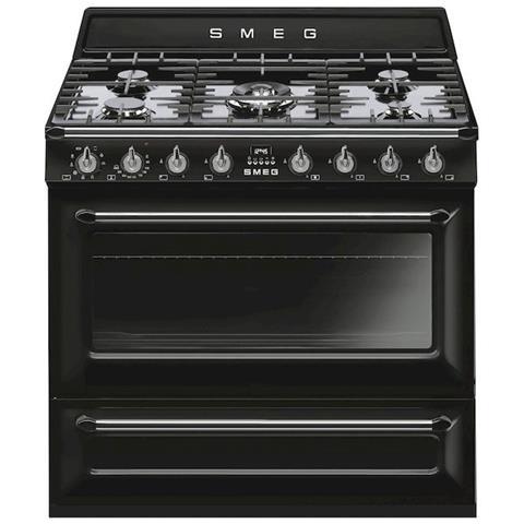 SMEG - Cucina Elettrica TR90BL9 5 Fuochi a Gas Forno Elettrico ...