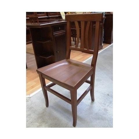Sedie In Legno Arte Povera.Estea Mobili Sedia 4 Pezzi Sedie Legno Massello Arte Povera Noce