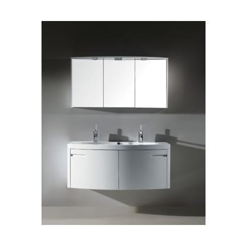 Mobile Bagno Specchio Contenitore.Bagno Italia Mobile Arredo Bagno 120cm Sospeso Moderno Bianco