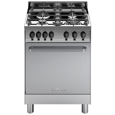BOMPANI - Cucina Elettrica BC643CA / N 4 Fuochi a Gas Forno ...