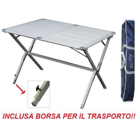 Tavolo Campeggio Alluminio Avvolgibile.Beaver Brand Tavolo Tapparella Argo 110x70x72h Cm In Alluminio Con