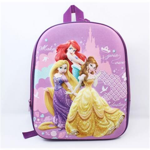 metà fuori 783d2 e45b7 Arcamania Zaino Asilo Scuola Materna Disney Principesse Princesse -  Rapunzel - Ariel - Bella - Sagome Tridimensionali 3d