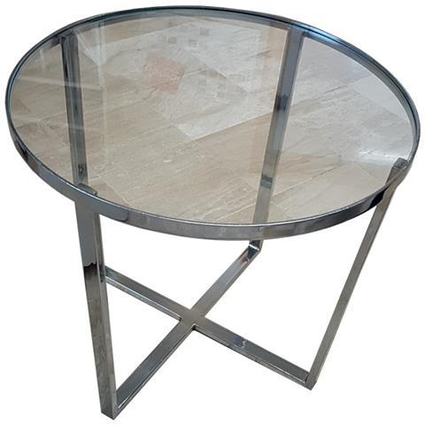 Tavolino Salotto Ferro Battuto E Vetro.Argonauta Tavolino Tondo Basso Studio Salotto In Ferro Con Piano