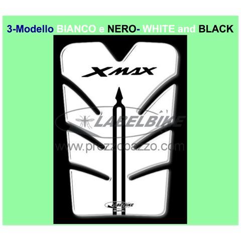ADESIVO 3D SPORTELLO SERBATOIO X MAX PARASERBATOIO per SCOOTER YAMAHA XMAX 2010-2013