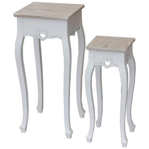 MilaniHome - Set 2 Tavolini Per Interno Camera Cameretta Salotto ...