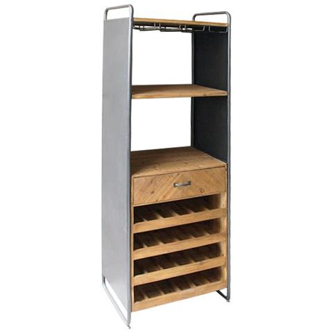 Mobile Portabottiglie In Legno.Bigbuy Home Portabottiglie Metal Wood 59 X 179 X 39 Cm