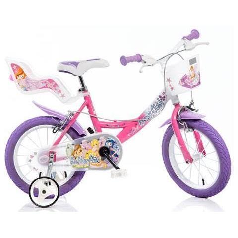Dino Bikes Bicicletta Bambina 16 Pollici Winx Cestino