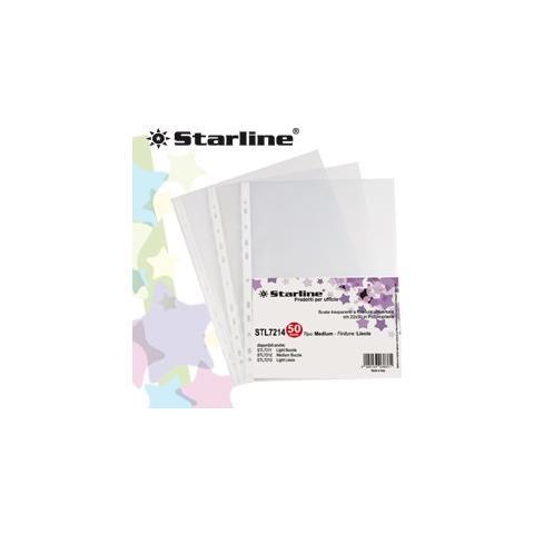 STARLINE 50 buste forate 22x30 buccia light starline