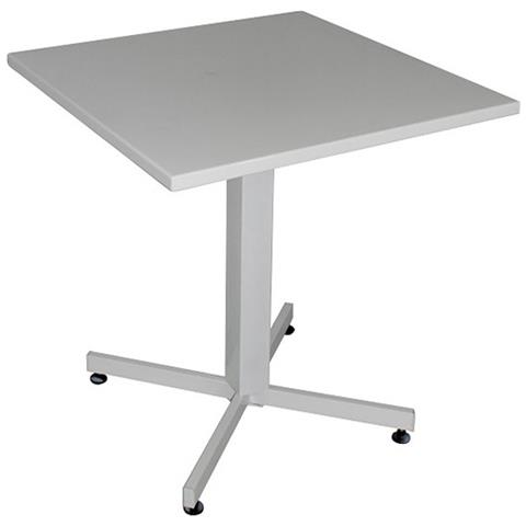 Tavolo Giardino Ferro Bianco.Milanihome Set Tavolo Giardino Quadrato Fisso 70 X 70 Con 2