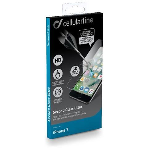 CELLULAR LINE - Pellicola protettiva in vetro temperato per iPhone 7 ...