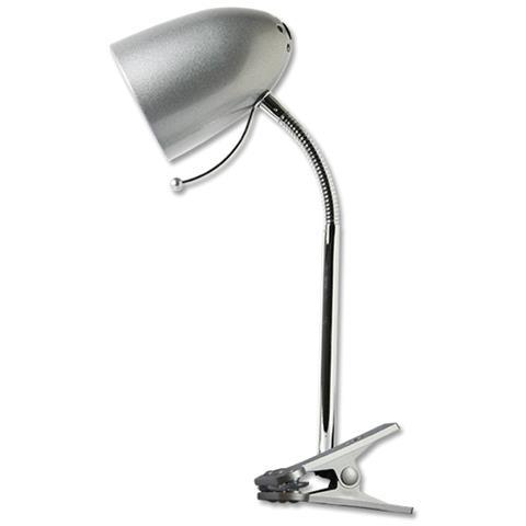 Lampada Da Comodino Argento.Ledleditalia Lampada Da Tavolo Argento Per Lampadine Led E27 Con