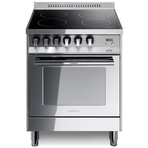 LOFRA Cucina Elettrica PL66MFT / 4I Piano ad Induzione 4 Zone Forno  Elettrico Multifunzione Colore Accaio Inox Lucidato