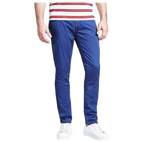 GUESS Pantalone Pantaloni Uomo Guess M91b29wb7f0 996 Cotone Originale Pe 2019 New Taglia Us 32 32 Colore Blu