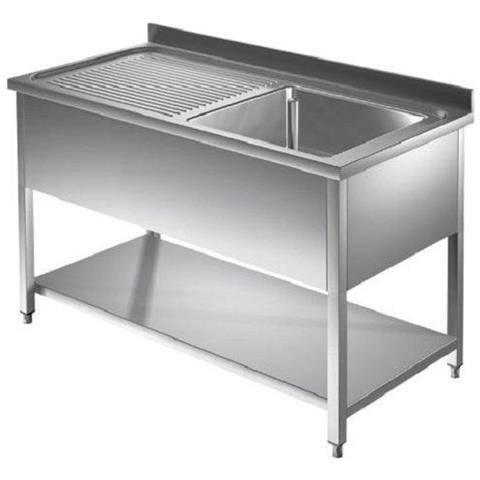 Scheda Tecnica Lavello Cucina.Ristoinox Lavello 110x70x85 Acciaio Inox 430 Su Gambe