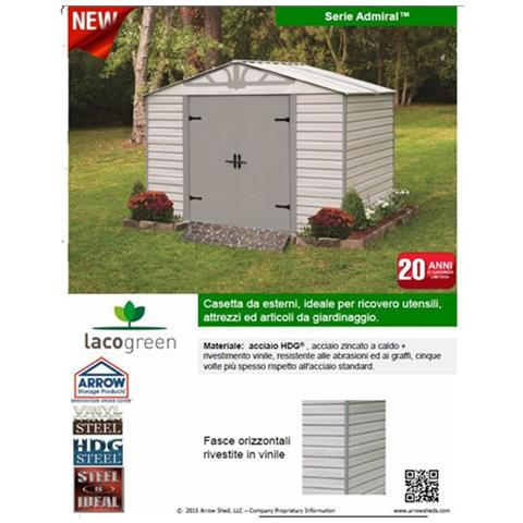Lacogreen Box Casetta Acciaio Hdg Steel Cm 313x212x230 Arredo