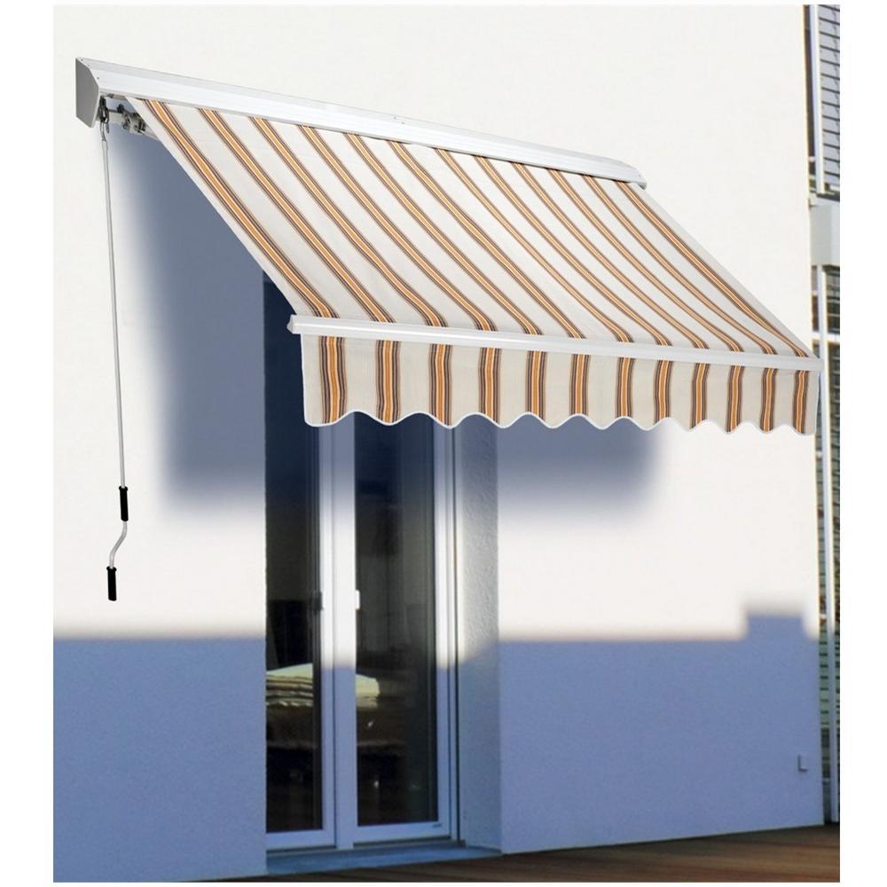 Biacchi tenda da sole barra quadra semicassonata 300 x for Tende beige e marrone