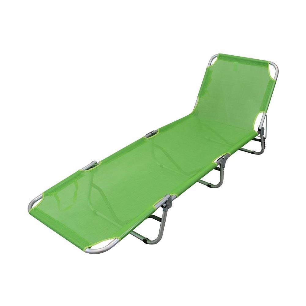 Lettino Pieghevole Campeggio.Milanihome Brandina Pieghevole Lettino Sdraio Textilene Verde Lime Per Campeggio Spiaggia Mare Piscina Giardino