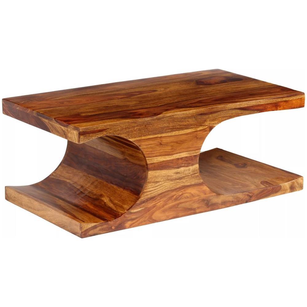 VIDAXL - Tavolino Da Caffè In Legno Massello Di Sheesham 90x50x35 Cm ...