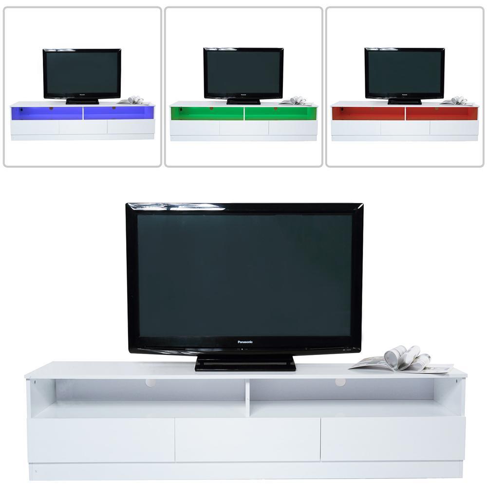 HomCom - Mobile Porta Tv Di Design In Legno Mdf E1 Con Striscia Led ...