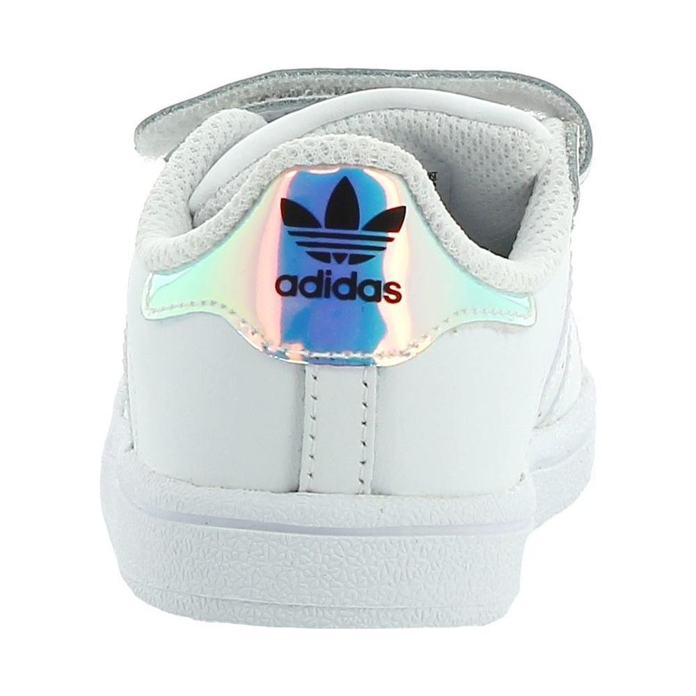 Adidas Superstar Cf I Scarpe Sportive Bambina Bianche 25