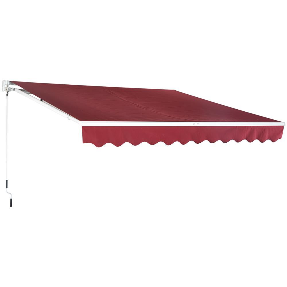 Tende Da Sole Resistenti Alla Pioggia.Outsunny Tenda Da Sole Per Esterno Avvolgibile Impermeabile In