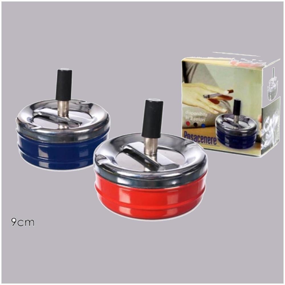 9b2c299a7b TrAdE shop Traesio® - Posacenere Posa Cenere In Metallo A Scatto Pressione  Chiusura Chiuso Portacenere - ePRICE