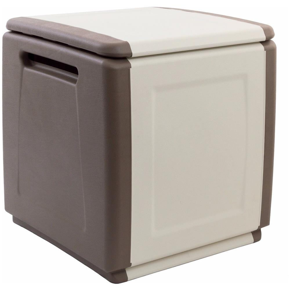 Bauli Plastica Da Esterno.Artplast Baule Cassapanca Cube Artplast In Resina