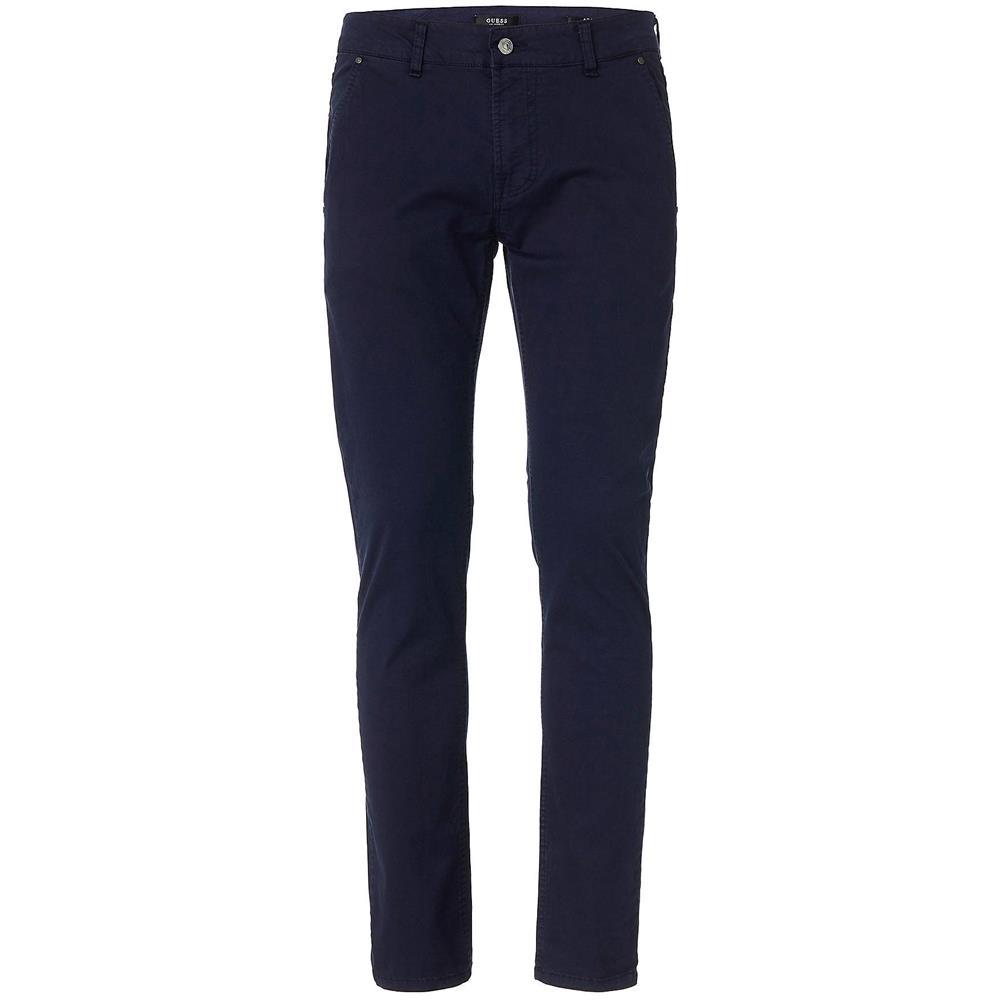 Pantalone Pantaloni Uomo Guess M91b29wb7f0 996 Cotone Originale Pe 2019 New Taglia Us 32 32 Colore Blu