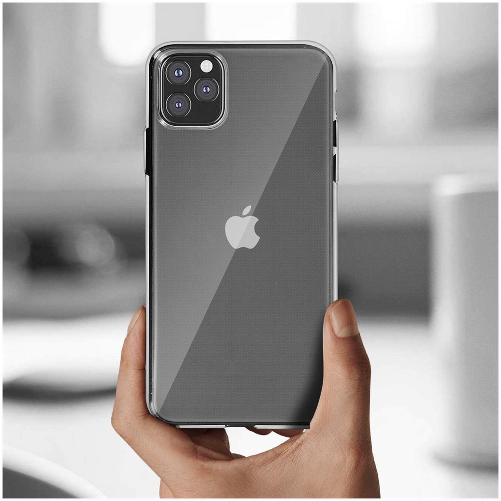 Avizar Cover Apple Iphone 11 Pro Max Silicone Morbida / pellicola Vetro Temperato 9h Nero