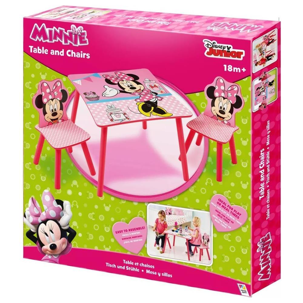 Set Tavolo E Sedie Minnie.Walt Disney Tavolo Con 2 Sedie Di Minnie 63x63x45 Cm Rosa Worl222013