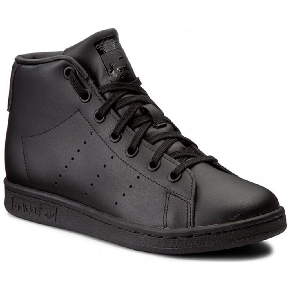 adidas - Scarpe Stan Smith Mid J Cblackcblackcblack Bz0097 Taglia 38 Colore Nero - ePRICE