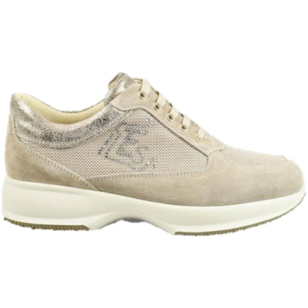 pretty nice 1a589 64399 ENVAL SOFT 3265033 Scarpe In Pelle Stringate Sneakers Donna Beige Beige 37