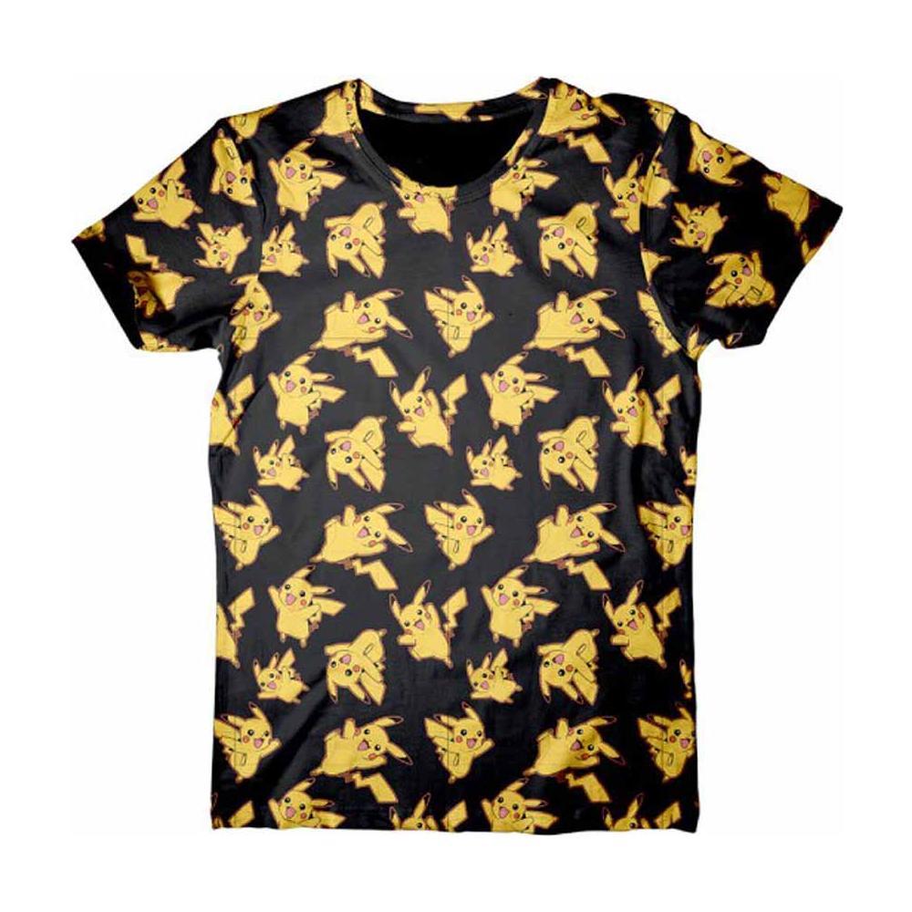 Pokemon - Pikachu Allover Print (T-Shirt Unisex Tg. XL)