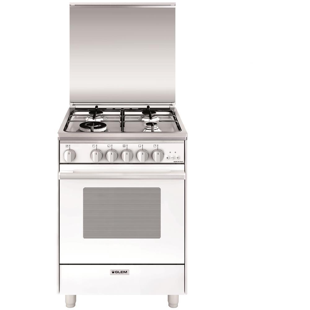 GLEM GAS - Cucina Elettrica U664VX 4 Fuochi Gas Forno Gas Classe A ...