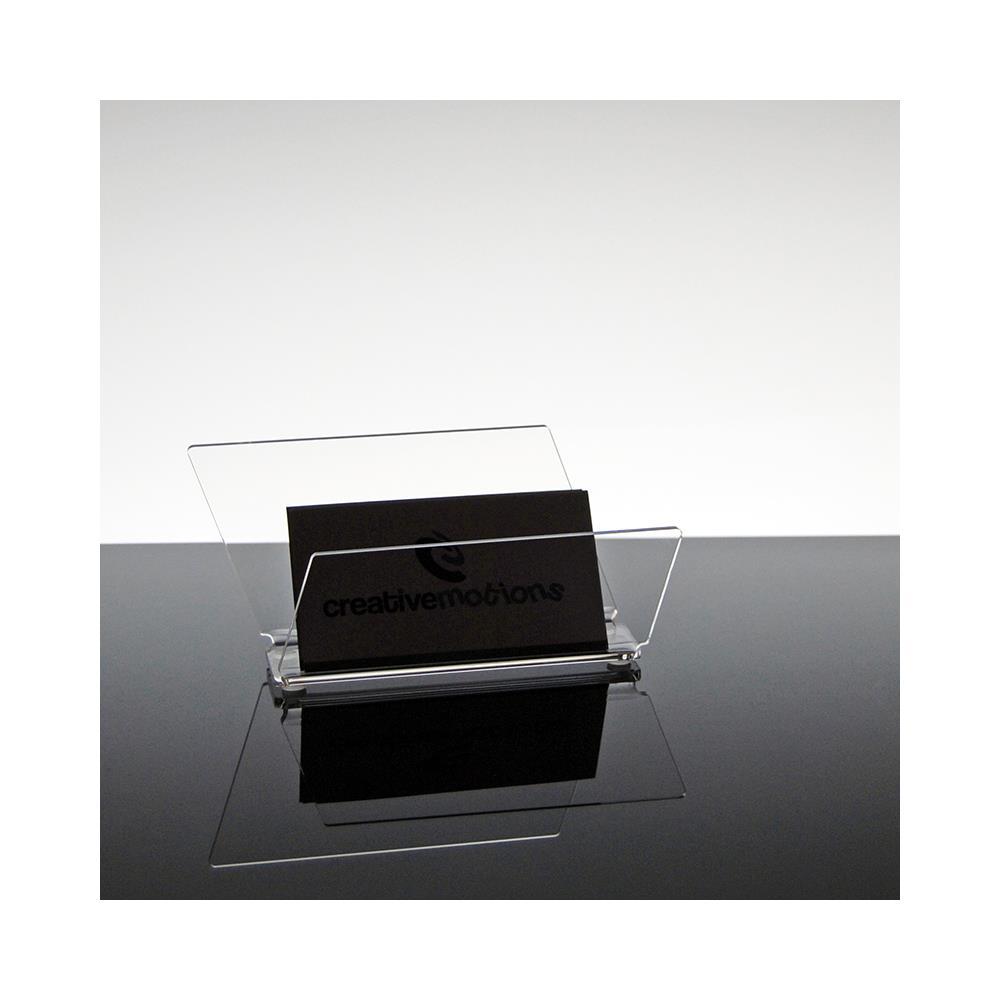 Slato Porta Biglietti Da Visita Da Scrivania Design Moderno In Plexiglass Trasparente Skadi
