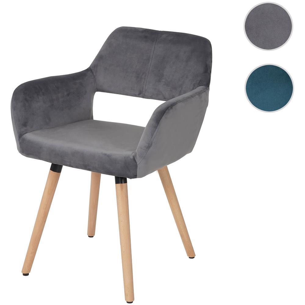 Mendler - Sedia Sala Da Pranzo Hwc-a50 Ii Design Retro Legno Tessuto ...