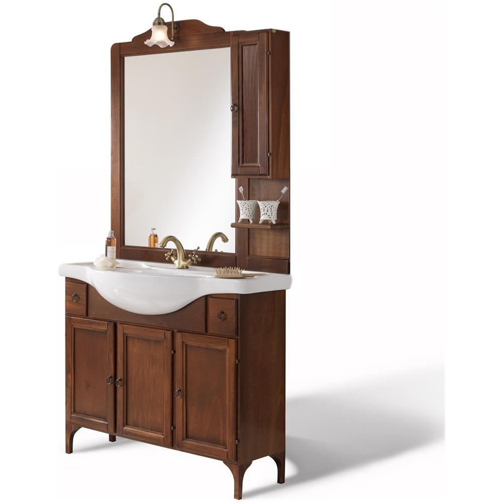 Bagno Italia Mobile Da Bagno Arte Povera 85 Cm Legno Massello Con Specchio Stile Classico Eprice