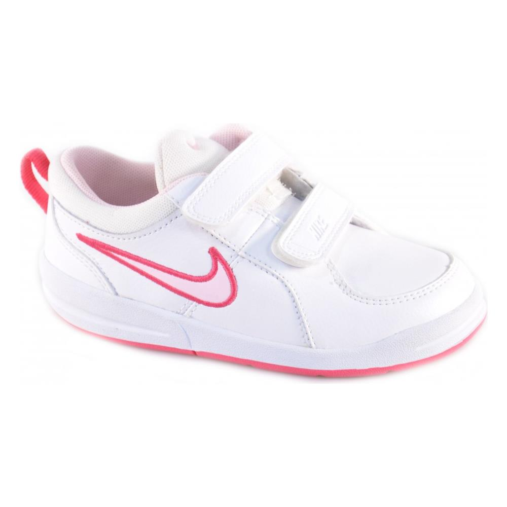 Nike - Pico 4 (tdv) Scarpe Bambina Bianche Pelle Strappi 454478 numero 21 -  ePRICE eaf270a8f797b