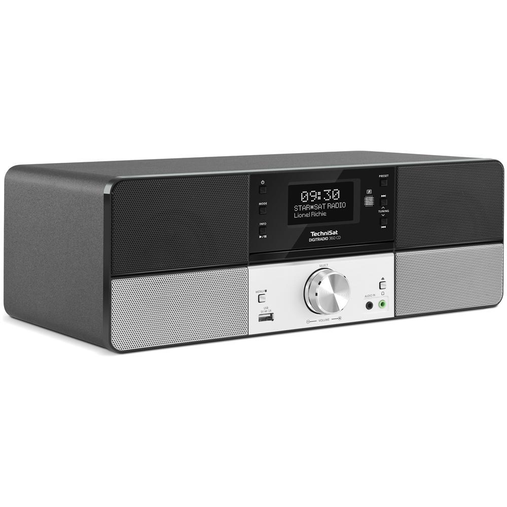 Radio Digitale 360CD con Lettore CD Sintonizzatore DAB / DAB+ / FM Colore Nero / Argento