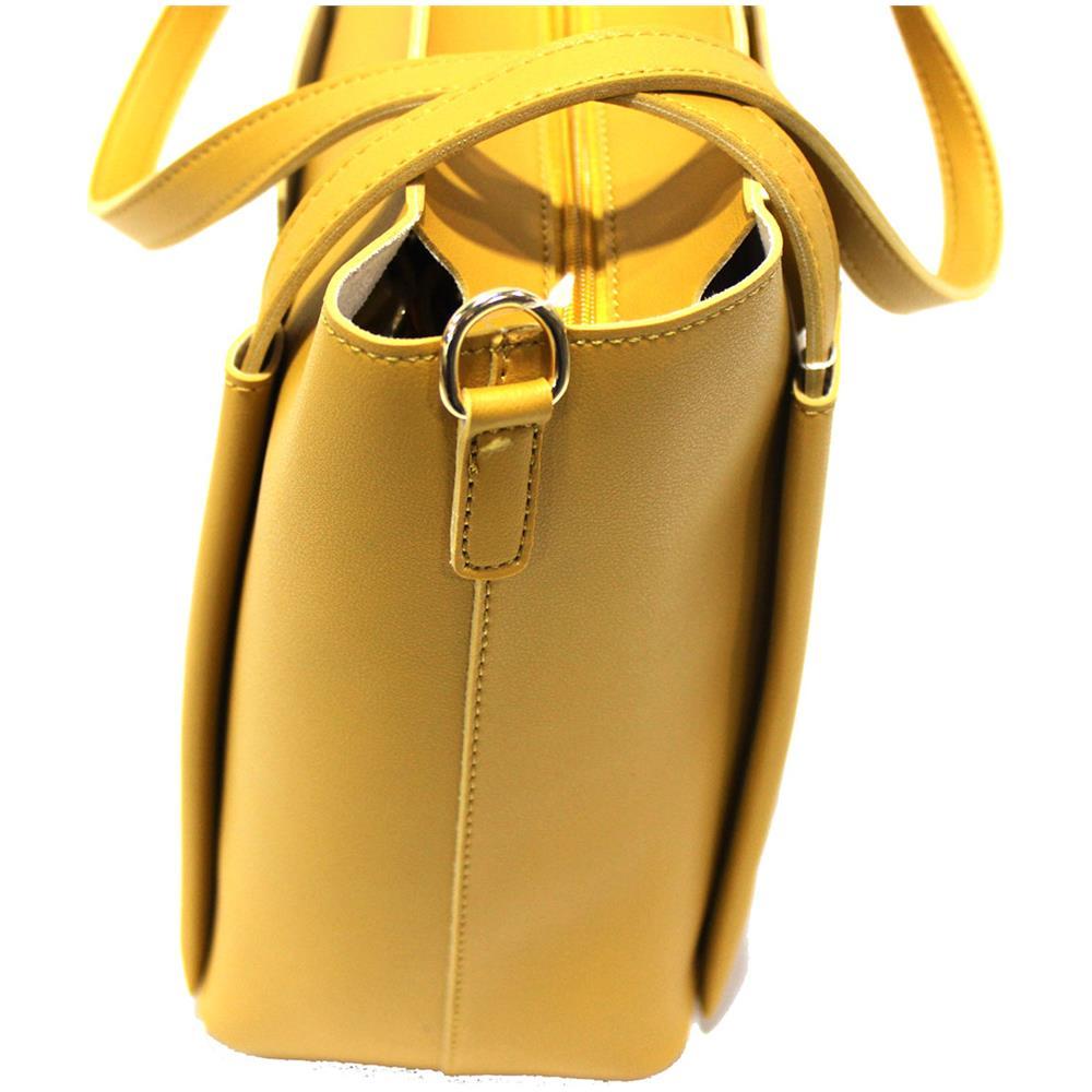 429d1f0c6f NAJ OLEARI Borsa Donna Similpelle Shopping Grande A Mano Linea Eva3 61546  Giallo