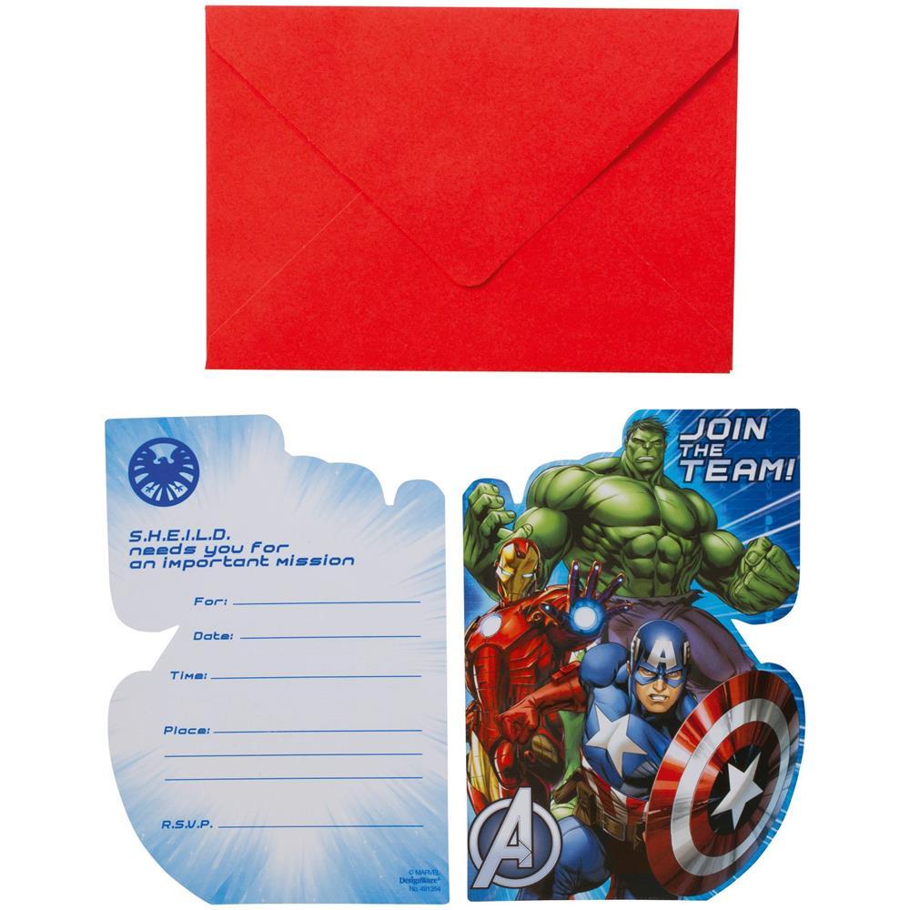 Bci 8 Biglietti D Invito Per Compleanno Avengers Taglia Unica Eprice