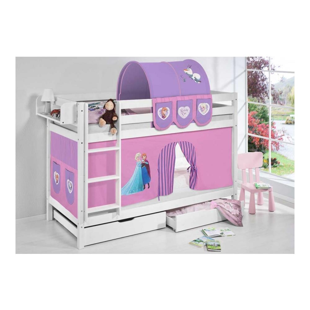 Letto A Castello Bluebell.Befara Letto A Castello Legno Bluebell Bianco 90 X 200 Senza Letto Aggiuntivo Senza Cassetti Hello Kitty Blu