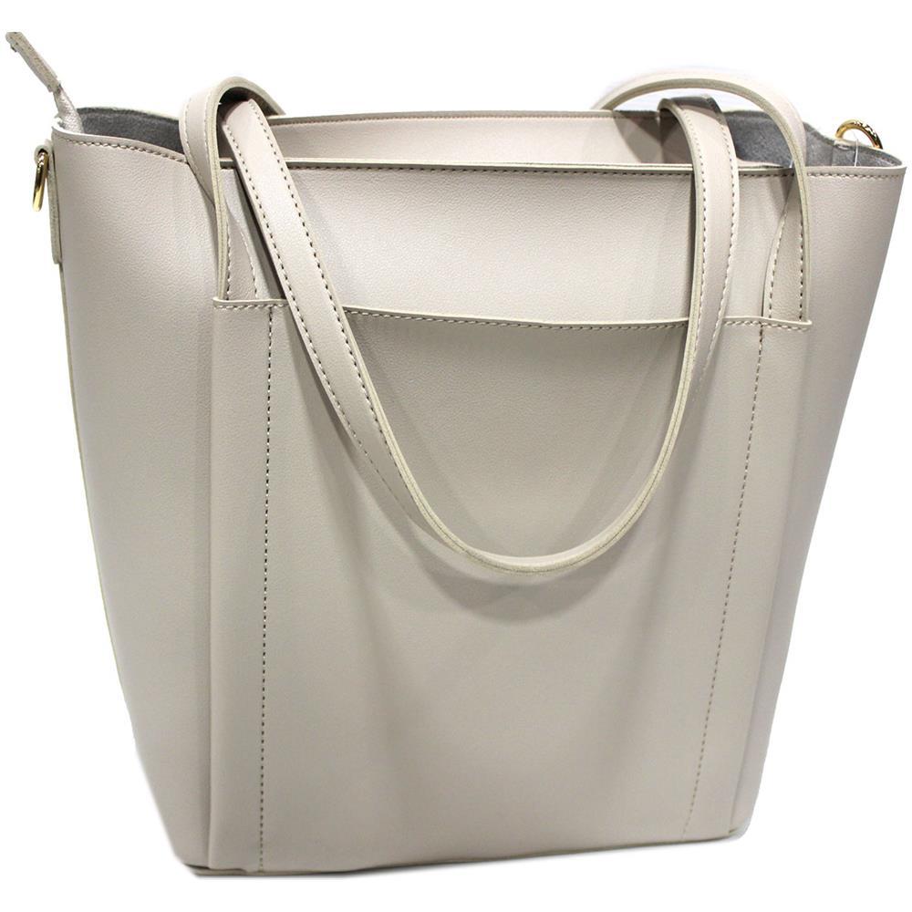 0818177aaa NAJ OLEARI Borsa Donna Similpelle Shopping Grande A Mano Linea Eva3 61546  Sabbia