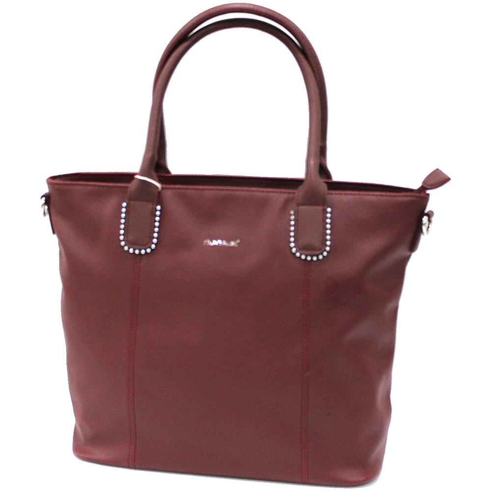 20436f8713652 NAJ OLEARI - Borsa Donna In Similpelle Shopping A Spalla Linea Jazz 61378  Bordeaux - ePRICE