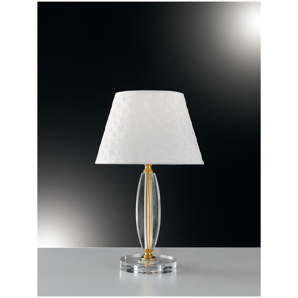 Gt luce i epoque l1 lampada da tavolo dal deisgn moderno trasparente e con finiture oro 60 for Luce da tavolo