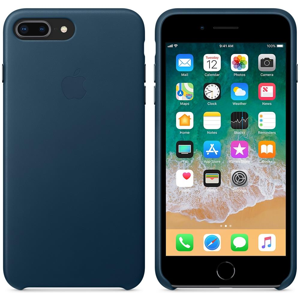 custodia iphone 8 pelle blu